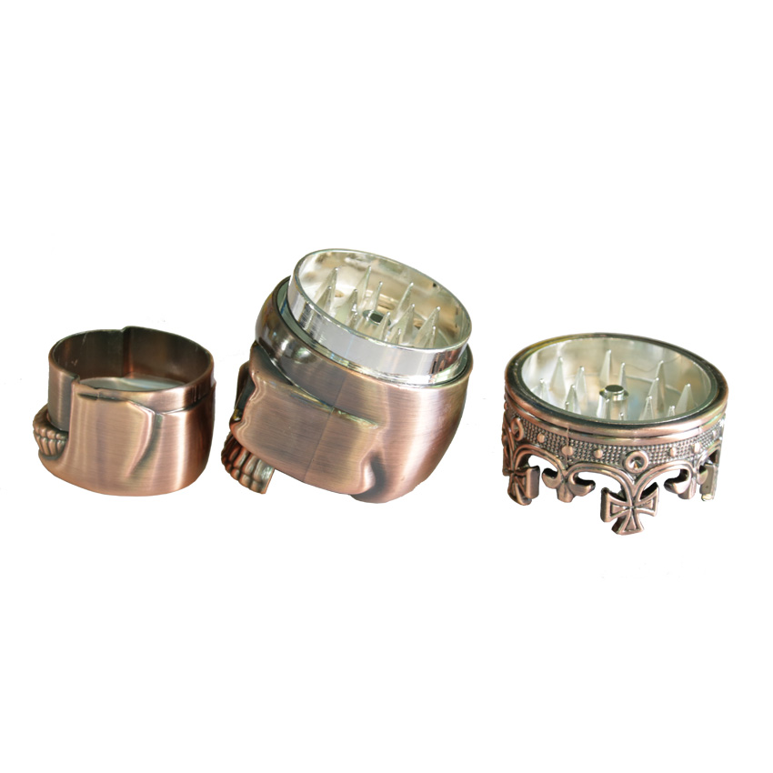 1PC Creative King Skull Herb Grinder 3 Parts Cigarette Rolling Tool - Household Merchandises - Photo 5