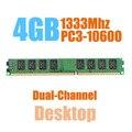 Marca New Selado DIMM DDR3 1333 Mhz 4 GB PC3-10600 de memória RAM para Desktop, de boa qualidade! compatível com todos motherboard!