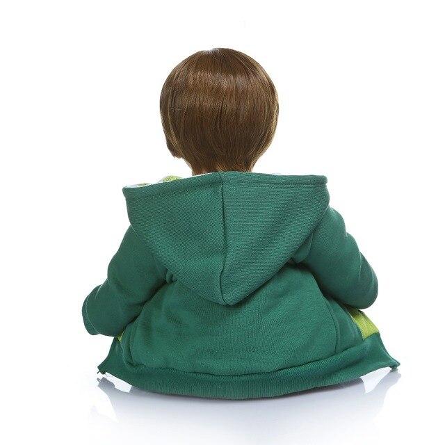 NPK 60 CENTIMETRI di alta qualità reborn bambino ragazzo bambola in felpa con cappuccio vestito bebe bambola reborn 6-9Month dimensione reale del bambino bambola