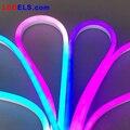 5 м/рулон 12В Светодиодные полноцветные силиконовые светодиодные неоновые полосы света RGB хорошее водонепроницаемость IP68 12В Светодиодные не...