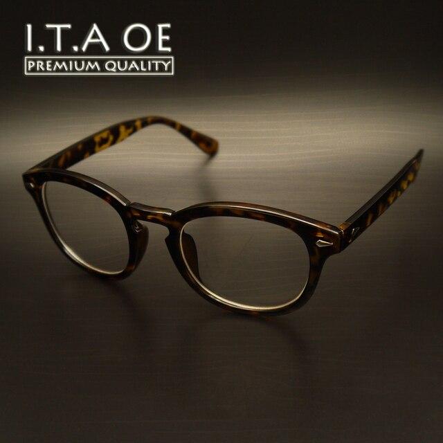 ITAOE Джонни Депп Классический Дизайн Моды Ацетат Unisex Мужчины Женщины Оптический Очки Рамки Очки Очки Близорукость Чтения
