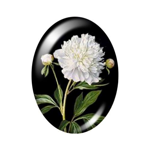 Красивые Винтажные Цветы Роза Маргаритка 10 шт. 13x18 мм/18x25 мм/30x40 мм овальные фото стекло кабошон демонстрационная плоская задняя часть изготовление TB0043 - Цвет: F