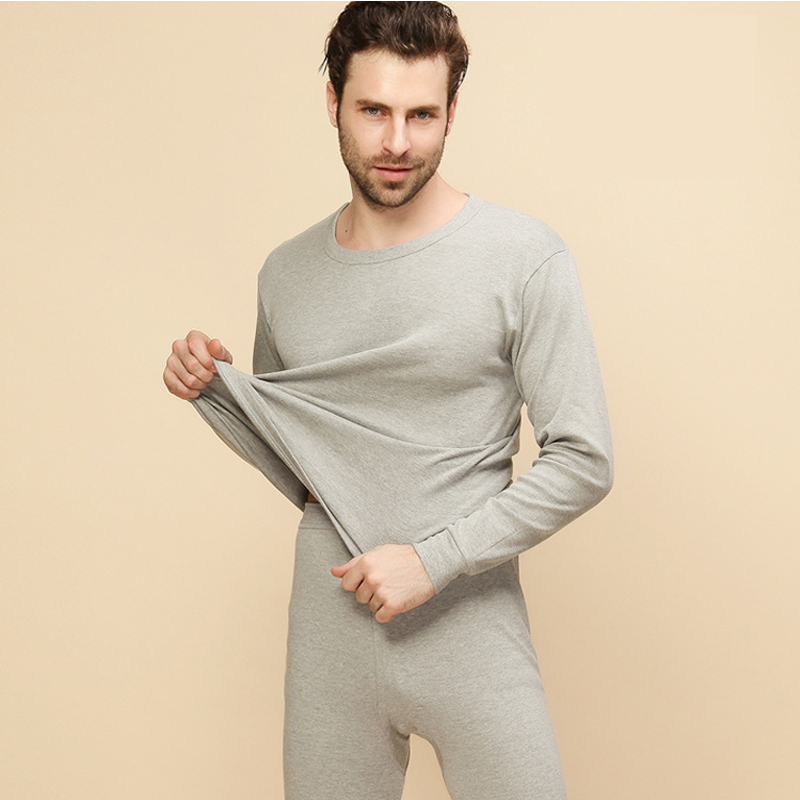 Thin Men Thermal Underwear Set Cotton Mens Long Johns Underwear Thermo Suit Warm Shirt Slim Termo Pants Mens Clothing Termica