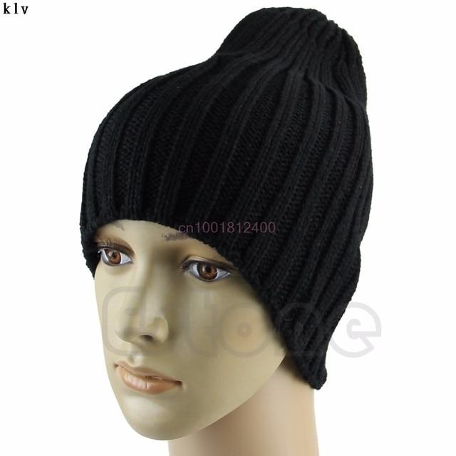0279e4b8bdd843 Hot Men Stylish Hip-Hop Warm Winter Wool Knit Unisex Beanie Skull Cap Hat
