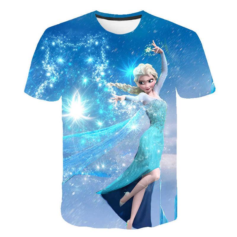 e70eabd6325f Frozen 2 Fashion Cool T-Shirt Men's & Women's Clothes Round Collar 3D Print  Short