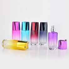 50ML Fashion Colorful Portable Refillable Glass Perfume Bottle With Aluminum Atomizer Empty Parfum Case With Sprayer For Cosmet