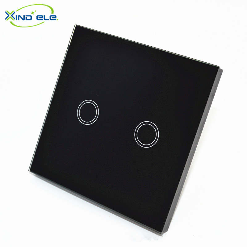 XIND ELE Luxury Black Pearl Crystal Glass, 86mm*86mm, EU standard, Single Glass Panel For 2 Gang Wall Touch Switch #XDTH02B# xind ele crystal glass panel smart home touch light wall switch with remote controller interruptor de luz xdth03b blr 8