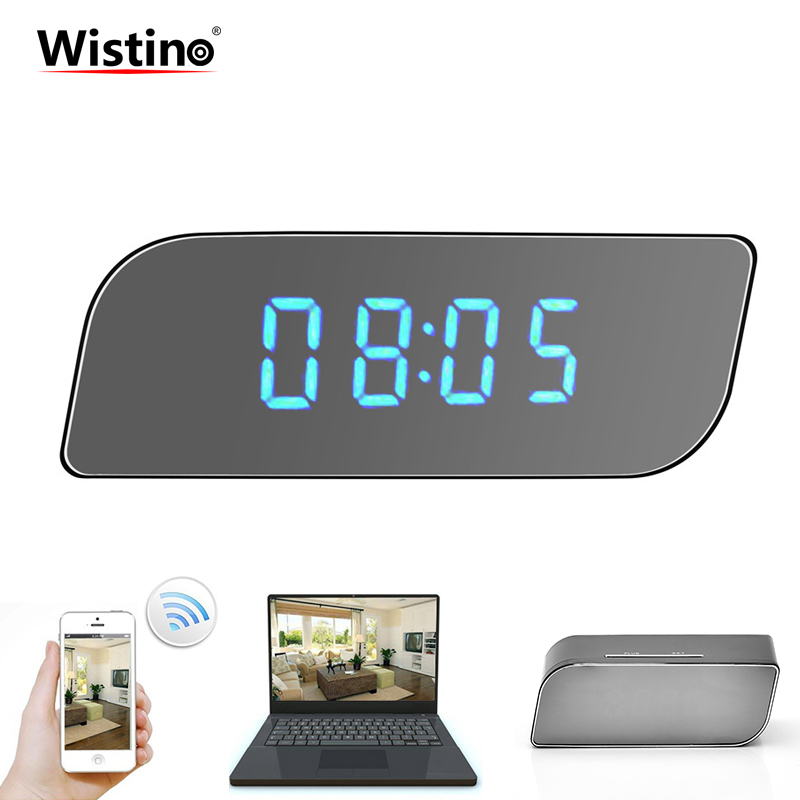 CCTV 1080P WIFI Mini Camera Time Alarm Wireless Nanny Clock P2P Security Night Vision Motion Detection Home Security IP Camera цена