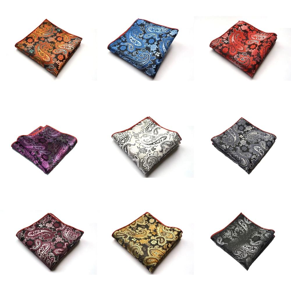 Men Vintage Paisley Flower Handkerchief Wedding Party Pocket Square Hanky Lot YXTIE0005