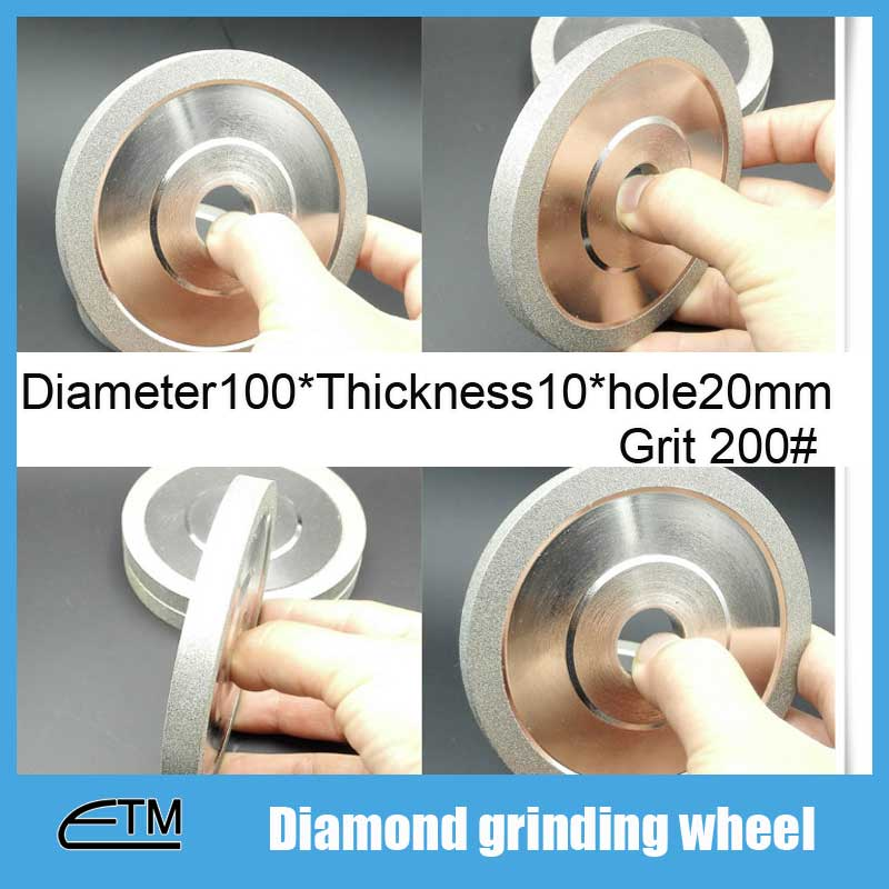 1piece 4inch Electroplated diamond grinding wheel Dia 100mm hole 20mm 1A1 flat shape for tungsten agate stone TZ75 150 diamond grinding wheel flat shaped wheel electroplated diamond grinding wheel 200 32 10 10 150