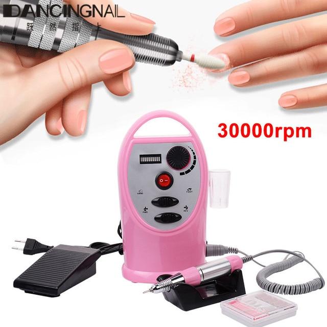 30000rpm Electric Nail Drill Machine Portable Manicure Pedicure Polisher File Bit Sanding Bands Accessory Kit