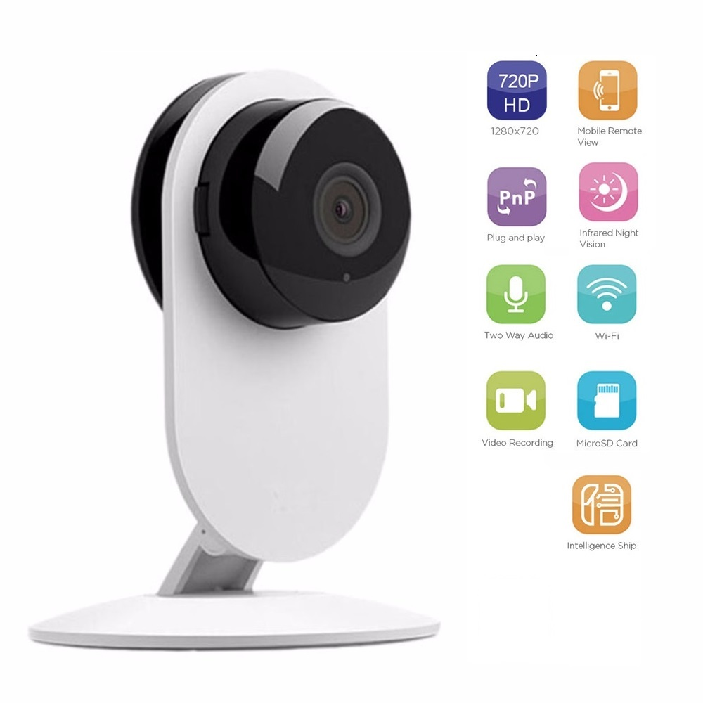P5 720P HD WIFI IP Camera 180 Degree View Angle Panoramic Camera Baby Monitor Network CCTV Security Camera with IR Night Vision new 1080p wifi ip camera panoramic 180 degree view night vision mini wireless baby monitor 2 0mp cctv smart camera security