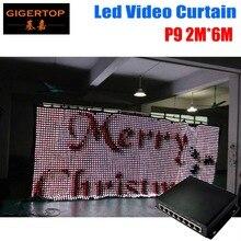 P9 2M*6M LED Video Curtain PC Mode Controller Wedding Backdrop Cheap Price P9 Led Graphic Curtain 90V-240V Led Backdrops