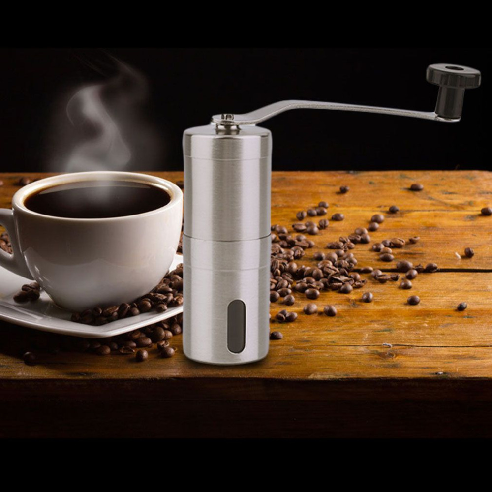 купить Stainless Steel Coffee Bean Grinder Hand Handmade Coffee Grinder Manual Mill Kitchen Grinding Tool онлайн