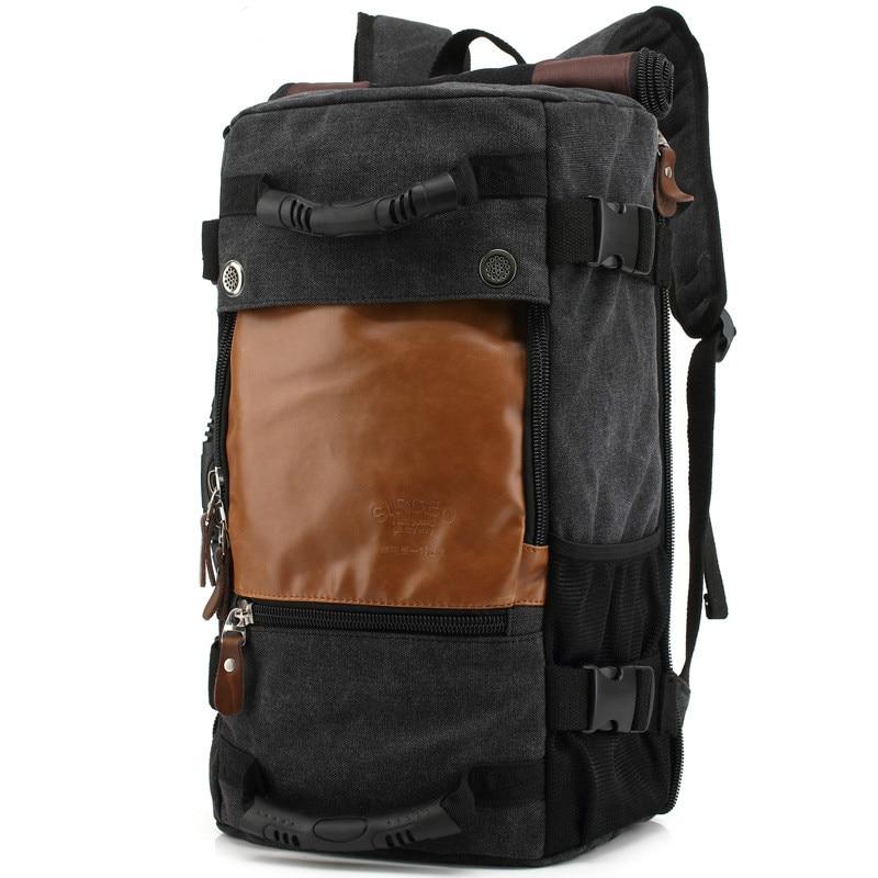 Big Travel Bag Large Capacity Men Hand Luggage Canvas Out Purse Weekend Duffle Multifunction Shoulder & Messenger & Backpack