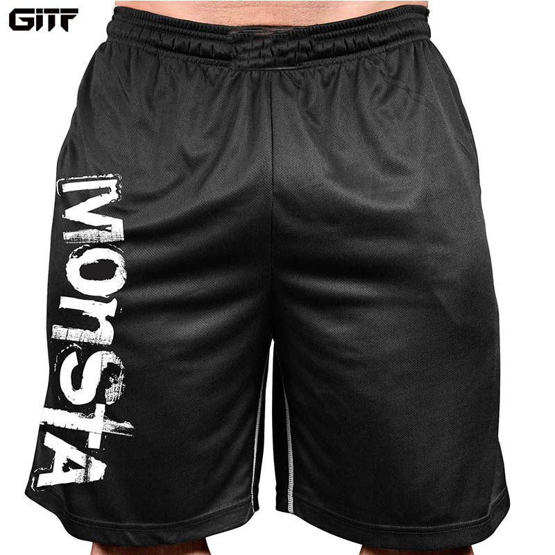 GITF Summer Mens Run Jogging Shorts Gym Fitness Bodybuilding Workout Sports Sportswear Male Short Pants Qucik Dry Shorts