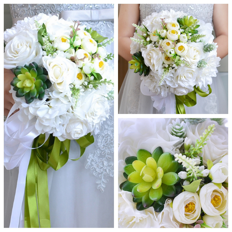 Cheap Silk Flower Bouquets For Weddings: New Design Directly Cheap Sale Natural Silk Artificial