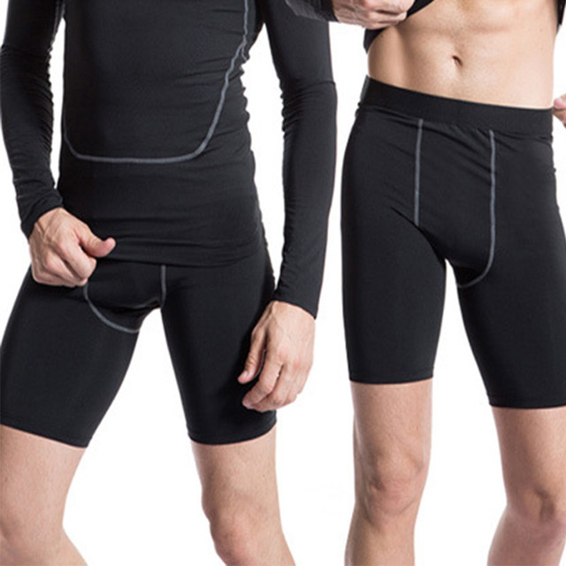 67a27f947e474 Mens Compression Tights Male Shorts Quick Dry Elastic Bodybuilding Crossfit  Sweat Shorts Slim Fitness Men Causal Short Pants