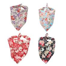 Cotton Dog Bandana Japanese Style Pet Triangular Bandage Medium and Large Dogs Scarf Bibs Accessories