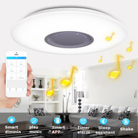 Smuxi Music LED Ceiling Light With Bluetooth Control Color Changing Lighting Flush Mount Lamp For Bedroom