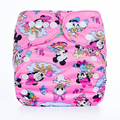 Hot Sale  Fashionable Baby Pocket Cloth Diaper Breathable Nappy Adjustable Cotton Cloth Nappies 1pcs Diapers Without Inserts