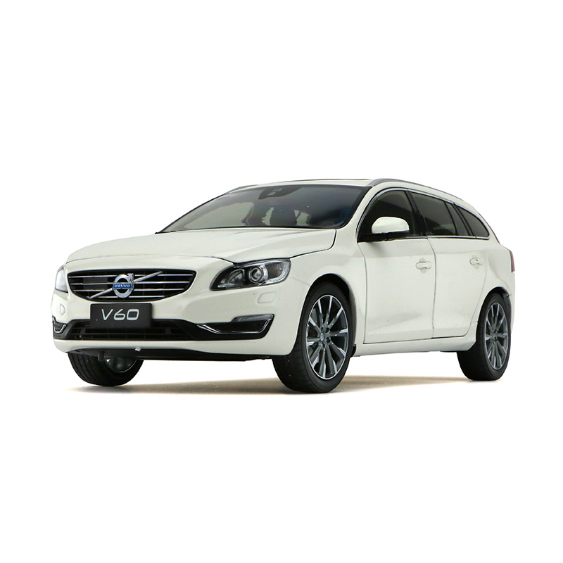 1:18 Diecast Model For Volvo V60 2016 White SUV Alloy Toy