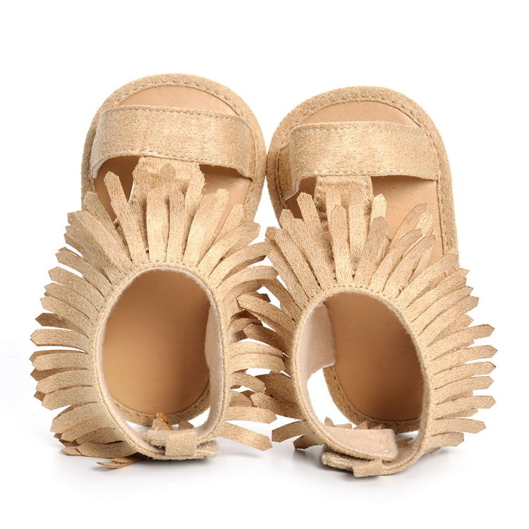 0 18M New Beige and Khaki Hollow Shoes Newborn Baby Boys Girls Baby Fringe Moccasins Summer