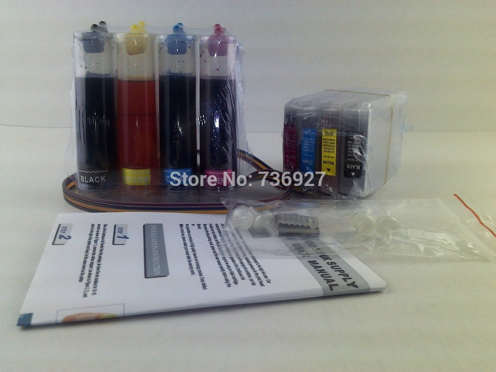 4 colors full dye ink for Brother  LC1280 continuous ink supply system  for MFC-J6510DW MFC-J6710 MFC-J6910DW MFC-J6710DW refillable ink cartridges for brother lc71 lc75 lc79 lc450 mfc j435w mfc j430w