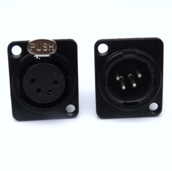 wholesale high quality 100PCS/lot  XLR 4-Pin Chassis Panel Mount/Black Case Silver Contacts with 50pcs XF4 & 50pcs XM4