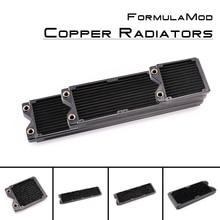 FormulaMod Fm-Кора-BK, 120/240/360/480 мм Медь черный однорядные радиаторы, 29 мм Толщина, подходит для 120*120 мм вентиляторы