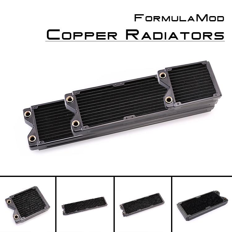 FormulaMod Fm-CoRa-BK, 120/240/360 / 480mm Koppar Svart Enstaka Rad Radiatorer, 29mm Tjocklek, Lämplig För 120 * 120mm Fläktar