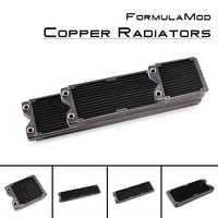 FormulaMod Fm-CoRa-BK, 120/240/360/480mm Copper Black Single Row Radiators, 29mm Thickness, Suitable For 120*120mm Fans