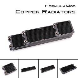 FormulaMod Fm-CoRa-BK 120/240/360/480mm cobre negro de una sola fila radiadores 29mm de espesor adecuado para 120*120mm Fans