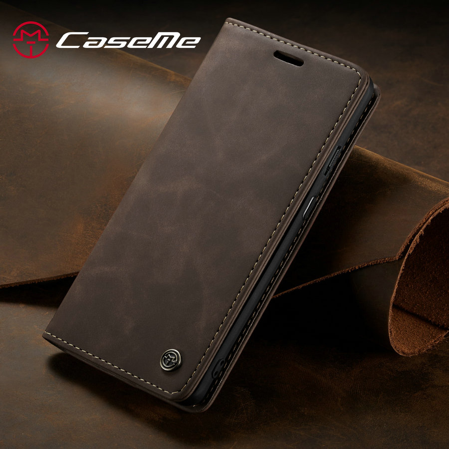 CaseMe <font><b>Original</b></font> Case For <font><b>OnePlus</b></font> 7 Pro Luxury Stand Magnet Leather Phone <font><b>Cover</b></font> Magnetic <font><b>Flip</b></font> Wallet For One Plus 7Pro Retro Case image