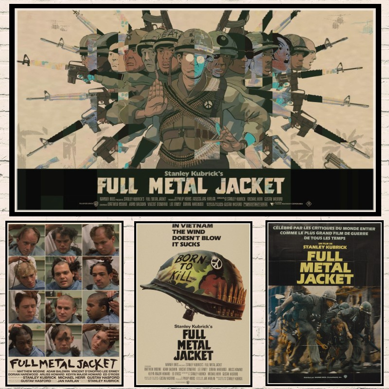 Full metal jacket movie poster 1987 vintage art classic family Kraft Paper Bar Home Decor Classic moive Wall Sticker
