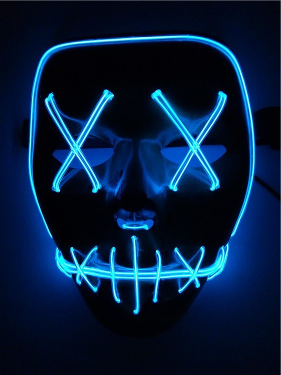 Halloween Party Scary Mask Cosplay Led Light Up Costume Mask The Purge Movie US