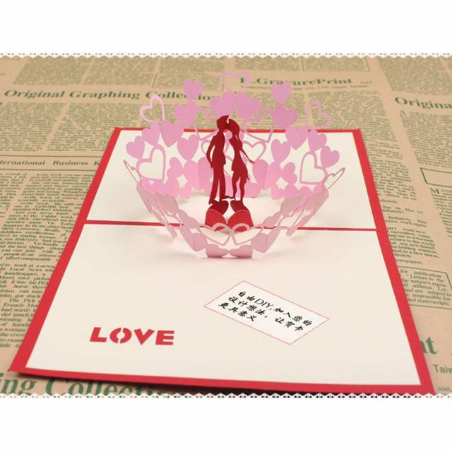 Online Shop Pink Love Kiss valentine\u0027s day wedding invitations