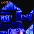 100pcs By DHL 4M 100LEDS 220v/110v AC LED string Holiday light curtain light ice bar light for party ,fairy,christmas,wedding