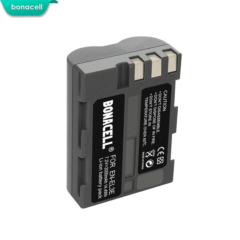 EN-EL3e ENEL 3e Batería Cargador para Nikon D90 D200 D300S D700 D80 D70 D50 2.0Ah