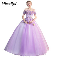 Mbcullyd Strapless Purple Quinceanera Dresses for 15 years 2019 Elegant Puffy Tulle Ball Gown Sweet 16 Dress Vestidos de 15 anos