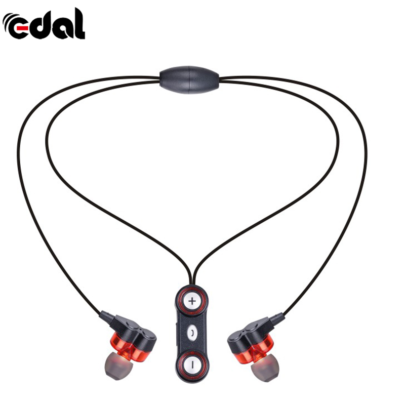 Sport Wireless Bluetooth Headset Magnetic clasp Necklace Earphone with MIC Volume Control Noise Canceling earphone powerful crdc sport bluetooth earphone 4 1 headphones magnetic clasp secure fit headset wireless stereo noise reduction with mic