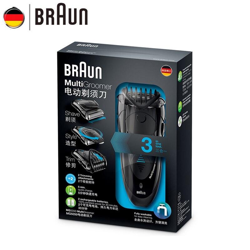 Электробритва Braun MG5050, бритвенный станок, электрическая бритва для мужчин, перезаряжаемая бритва, Barbeador, уход за лицом - 4