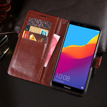 Wallet Case For Huawei Honor 7A Flip Case PU Leather Cover For Huawei Honor 7A Pro Business Case Phone Cover huawei honor 8c business case pu leahter cover for huawei honor8c wallet flip case anti knock phone cover
