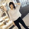 Белый Шифон Топ Женщины Новая Мода Вышивка Топ