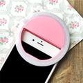 Lujo nuevo teléfono inteligente led de luz de flash de anillo de luz de flash up selfie mejorar belleza luminoso case para iphone 6/6 s rosa
