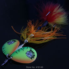 3pcs 34g big double spinner fishing lures