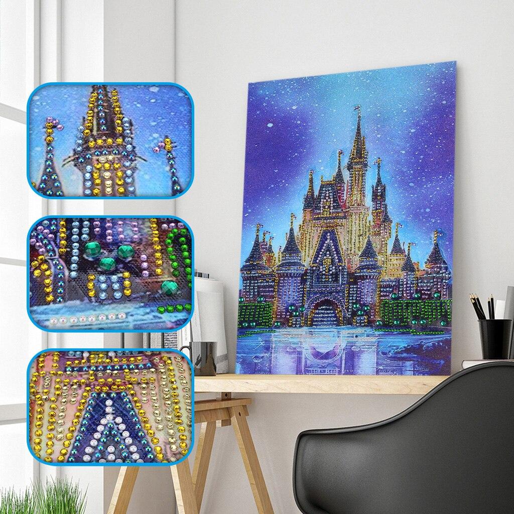 Special Shaped Diamond Painting Castle Diamond Mosaic Sale Diamond Cross Stitch Picture Diamond Painting Round Drill 30*40cm