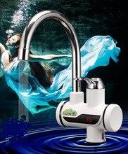 СВЕТОДИОДНЫЙ Дисплей Электрический Горячей Воды Кран Tankless Кухонный Кран CE Сертификат ЕС plug 1 Год Гарантии RU Сообщение Freeshipping