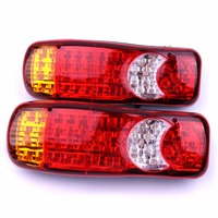 2Pcs 24V Automobiles Car Truck LED Stop Rear Tail Indicator Fog Lights Reverse Van Car Styling