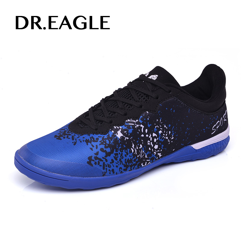 DR.EAGLE kids indoor soccer shoes cleats boots Centipedes professional turf football shoes sneakers futsal boot adult size 32-45